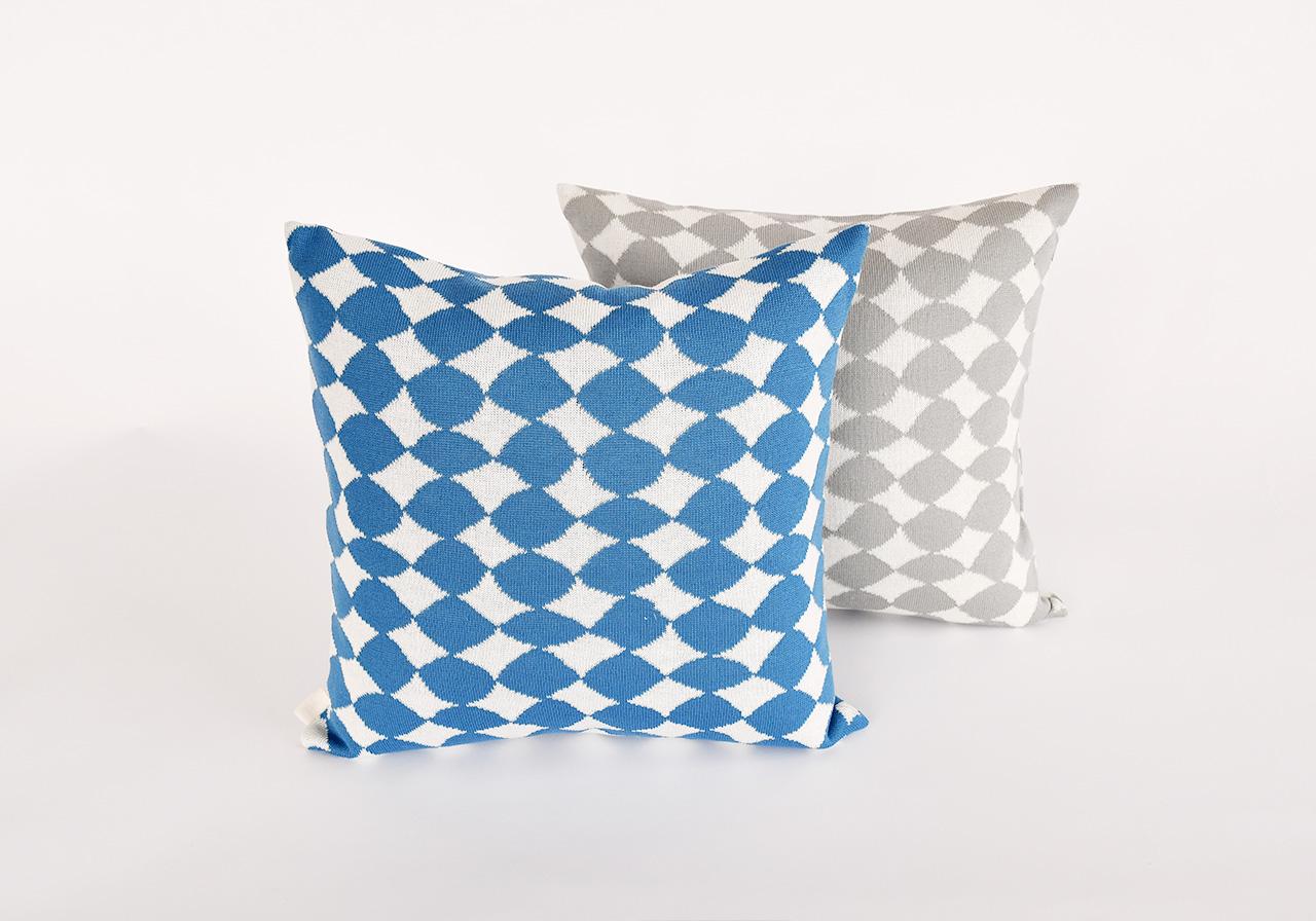 Knit Cushion Cover by Kawashima